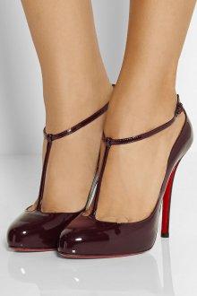 Бордовые туфли лодочки