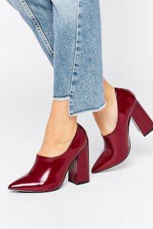 Бордовые туфли модные