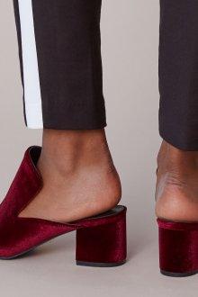 Бордовые туфли мюли