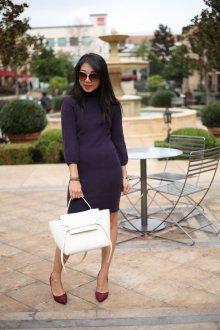 Бордовые туфли с платьем