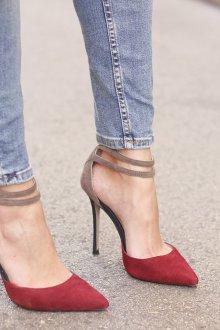 Бордово-серые туфли