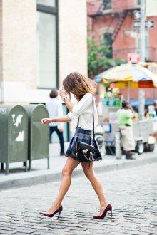 Бордовые туфли стильные