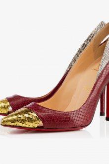 Бордовые туфли змеиные