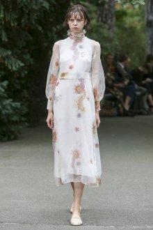 Повседневное платье белое с принтом
