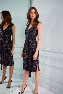 Повседневное платье блестящее с цветами