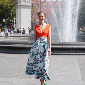 Повседневное платье с цветами