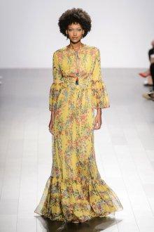 Повседневное платье этно желтое