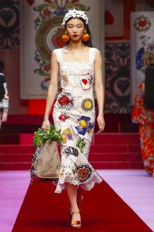 Повседневное платье с принтом кружевное