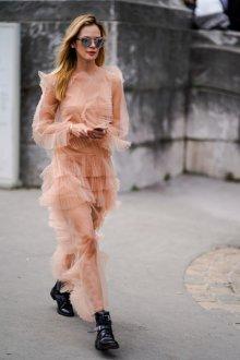 Повседневное платье прозрачное