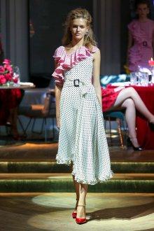 Повседневное платье с воланами миди