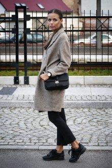 С чем носить кеды с кожаными вставками