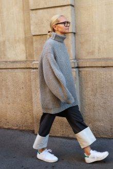 Кеды с пуловером оверсайз