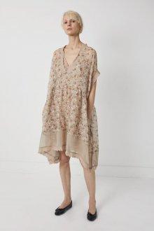 Бежевое платье льняное