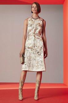 Бежевое платье шелковое