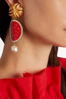 Красные серьги красивые
