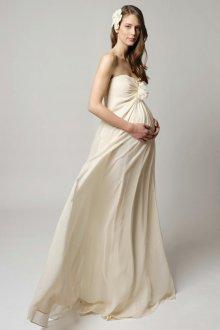 Свадебное платье для беременной айвори