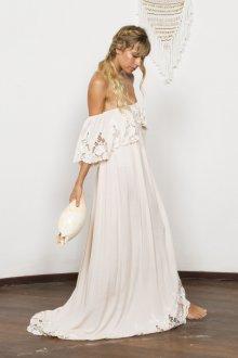 Свадебное платье для беременных ажурное бохо