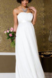 Свадебное платье для беременных с драпировкой