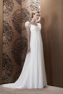 Свадебное платье для беременных с рукавами фонариками