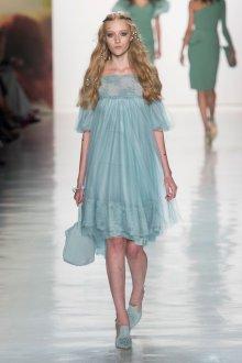 Свадебное платье для беременных голубое