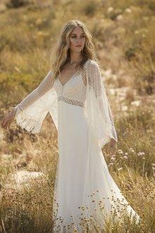 Свадебное платье для беременных с накидкой