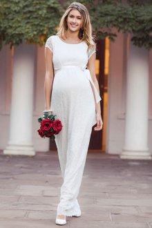 Свадебное платье для беременных с коротким рукавом