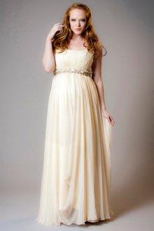 Свадебное платье для беременных с высокой талией