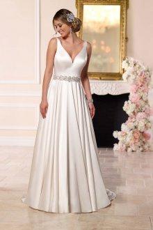 Атласное свадебное платье с браслетом