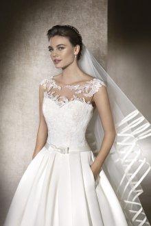 Свадебное платье с атласным низом