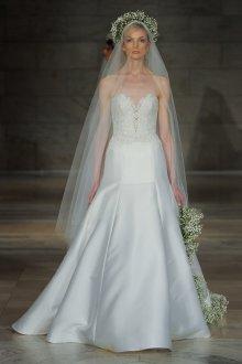Атласное свадебное платье классическое