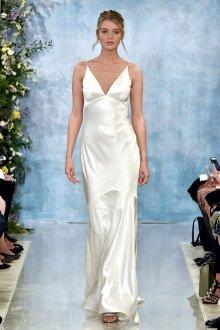 Атласное свадебное платье комбинация