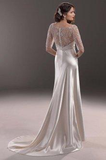 Атласное свадебное платье красивое