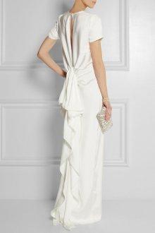 Атласное свадебное платье прямое