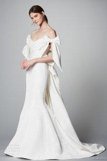 Атласное свадебное платье русалка со шлейфом