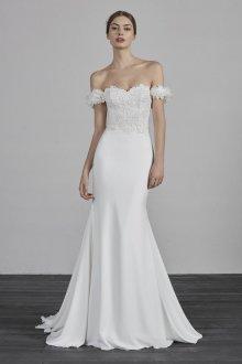 Атласное свадебное платье русалка