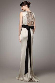 Атласное свадебное платье серое