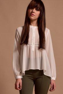Блузка прозрачная асимметричная