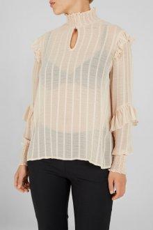 Блузка прозрачная бежевая