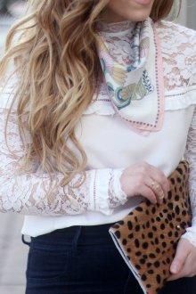 Блузка прозрачная белая гипюровая