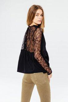 Блузка прозрачная черная кружевная