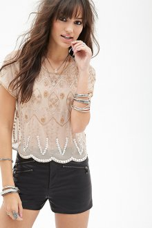 Блузка прозрачная в стиле этно