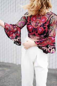 Блузка прозрачная клеш
