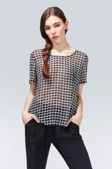 Блузка прозрачная в клетку
