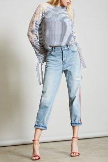 Блузка прозрачная комбинированная