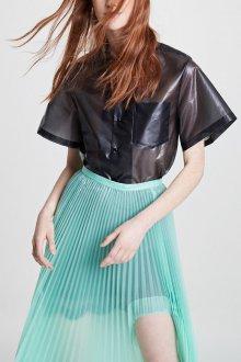 Блузка прозрачная с коротким рукавом