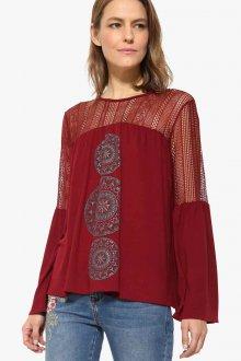 Блузка прозрачная красная