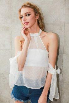 Блузка прозрачная летняя