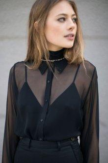 Блузка прозрачная с майкой