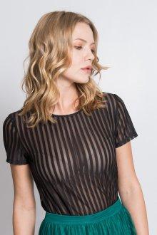 Блузка прозрачная в полоску