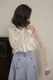 Блузка рубашка прозрачная